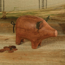 Load image into Gallery viewer, Terra Cotta Piggy Bank