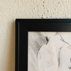 Standing Nude Sketch in Black Frame