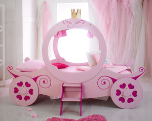 Pink Princess Carriage Bed from the Mattress World