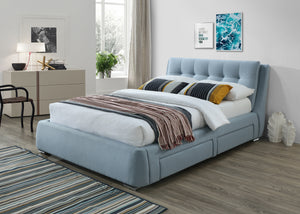 light blue San Diego bed from The Mattress World