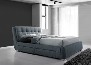 Dark Grey San Diego Bed from The Mattress World