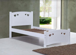 Madeline Children's Love Heart Bed Frame