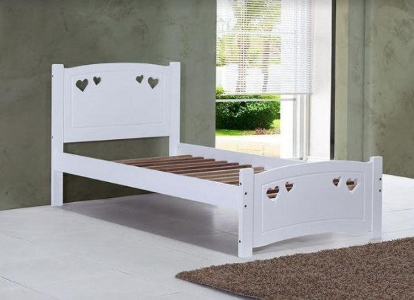 Madeline Love Heart Wooden Bed Frame