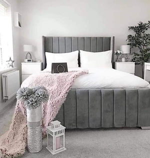 Diana Bed frame, grey, from The Mattress World