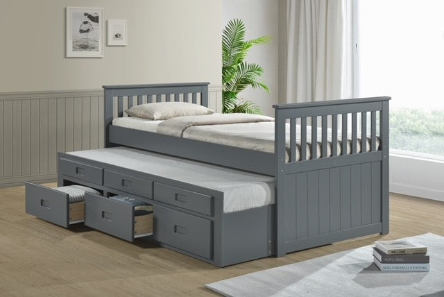 Captain Cabin Bed with Pull-out Guest Bed, Choice of Mattresses
