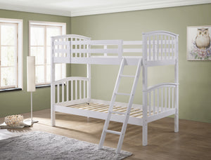 white bunk beds from the Mattress World