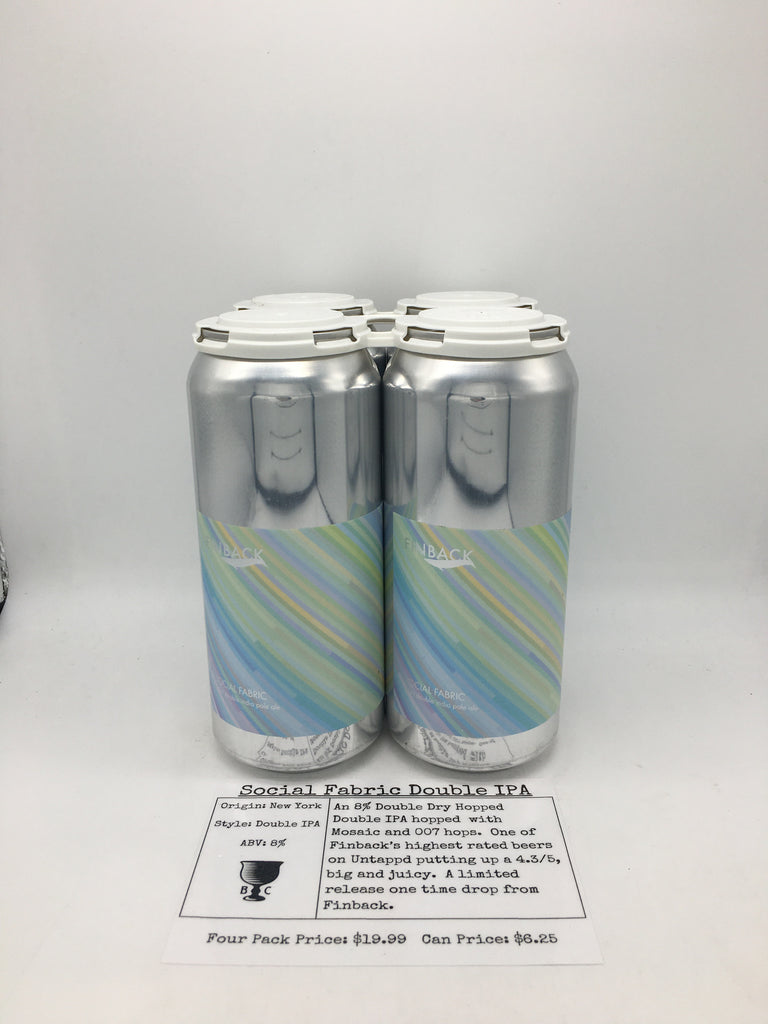 Finback Social Fabric Double IPA