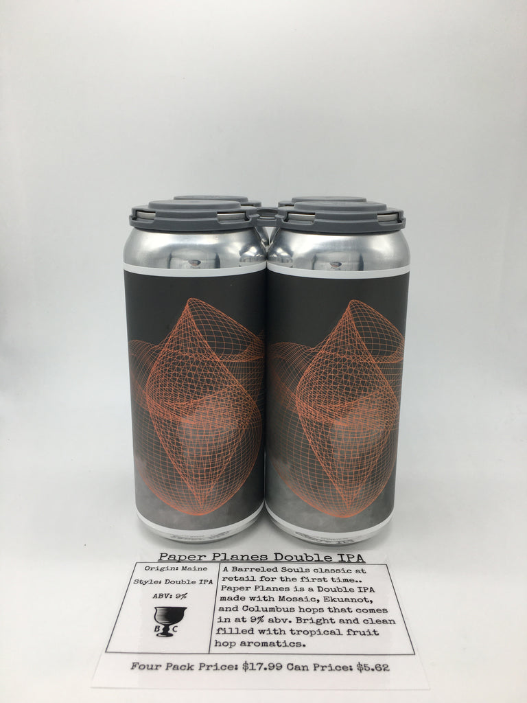 Barreled Souls Paper Planes Double IPA