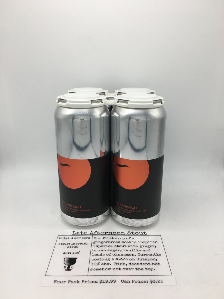 Finback Late Afternoon Imperial Stout