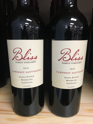 Bliss Family Vineyards Mendocino Cabernet Sauvignon Estate