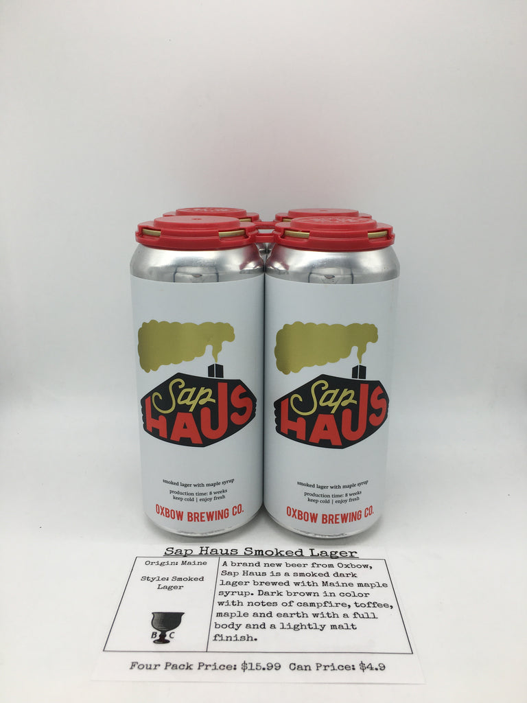 Oxbow Brewing Sap Haus