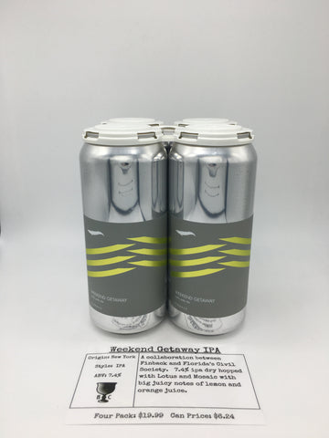 Finback/Civil Society Weekend Getaway IPA