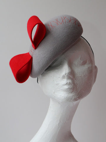 bow beret - red