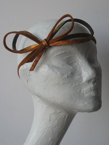 ochre skinny headband - in stock