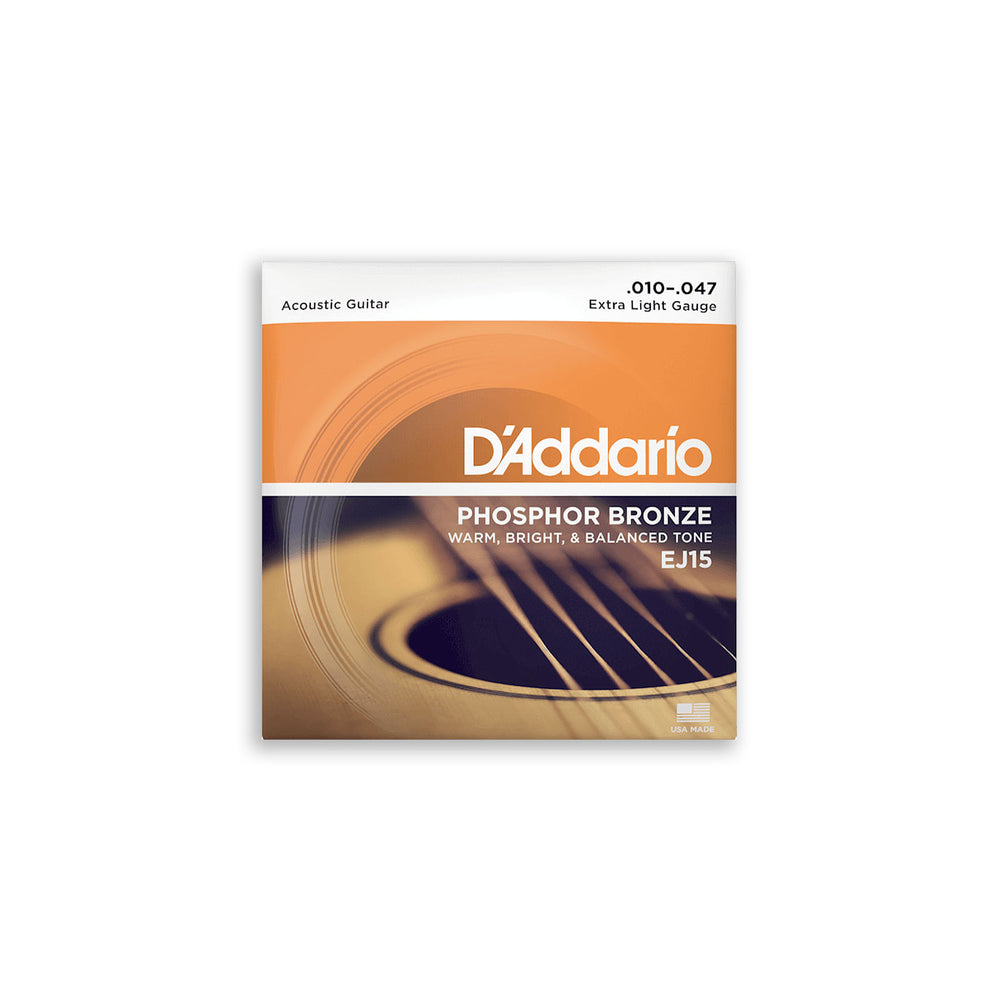 DAddario EJ15 Phosphor Bronze Acoustic Strings 10-47