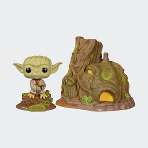 Funko Star Wars: The Empire Strikes Back - Dagobah Yoda with Hut Pop! Vinyl Figure #11
