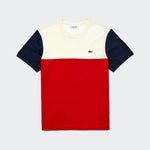 Lacoste Mens Colourblock SS Tee