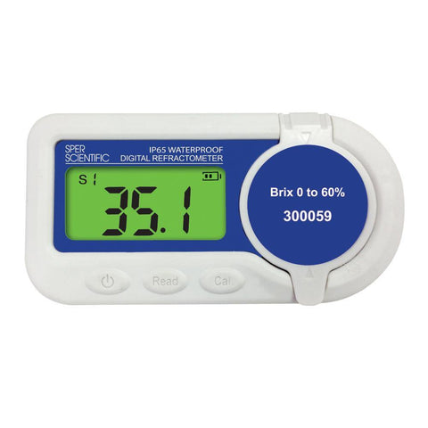 Waterproof Digital Refractometer - Brix 0 to 60%