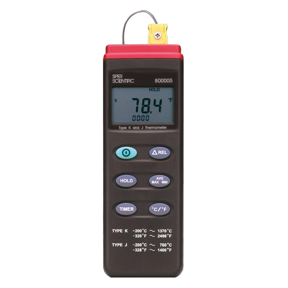 Advanced Thermocouple Probe Thermometer Type K/J - Sper Scientific Direct