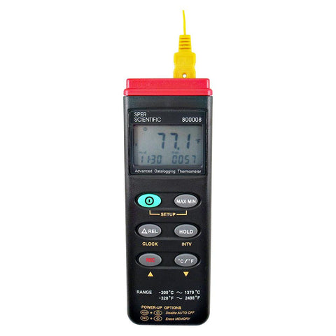 Adv. Thermocouple Thermometer Datalogger Type K - Sper Scientific Direct