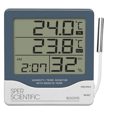 Humidity/Temperature Monitor with Remote Temperature Sensor - Sper Scientific Direct