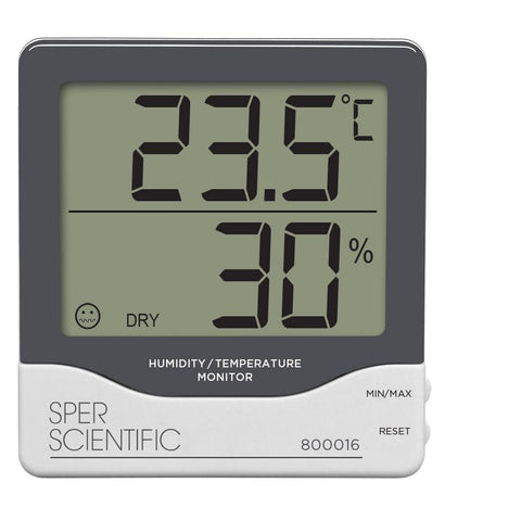 Humidity / Temperature Monitor - Sper Scientific Direct