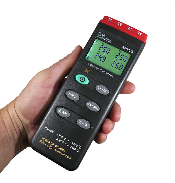 Type K Thermocouple Thermometer with RS232 Output - Sper Scientific Direct