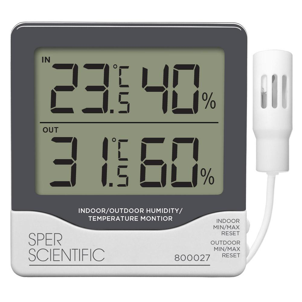Indoor/Outdoor Humidity/Temperature Monitor with Remote - Sper Scientific Direct