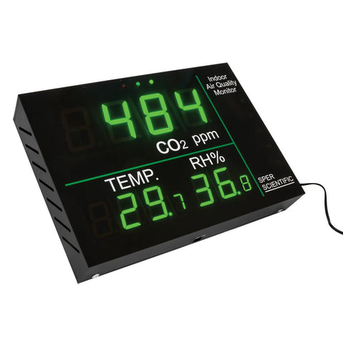 Indoor Air Quality Wall Monitor - Sper Scientific Direct