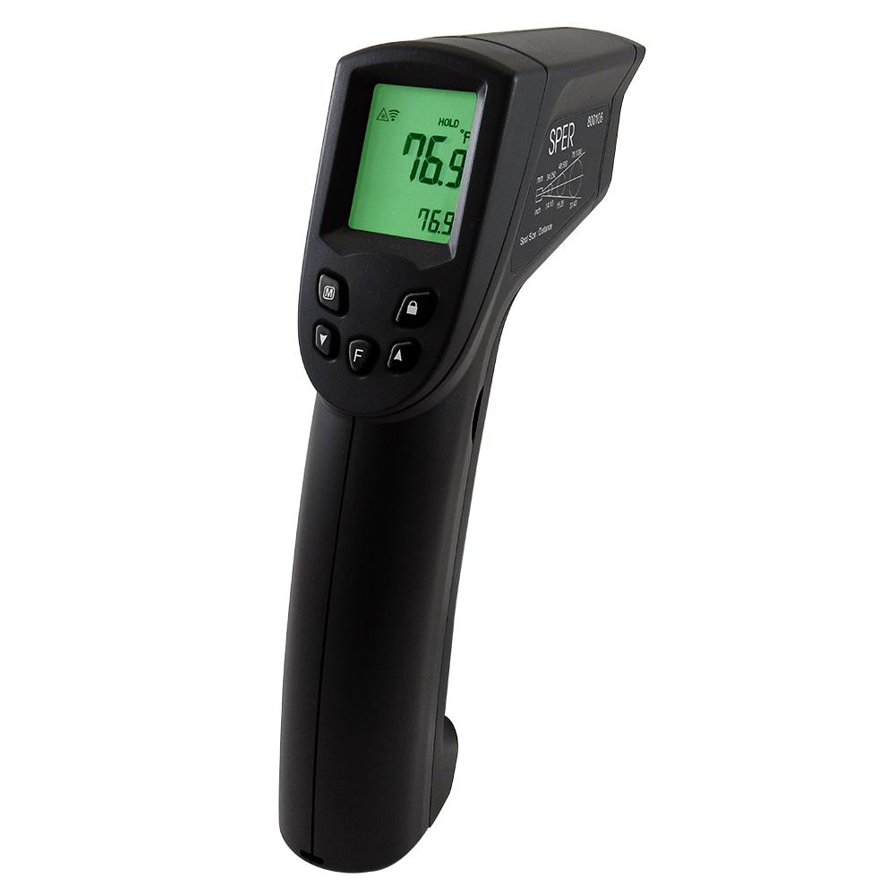 Infrared Thermometer Gun with Alarm 12:1 / 1400ºF - Sper Scientific Direct