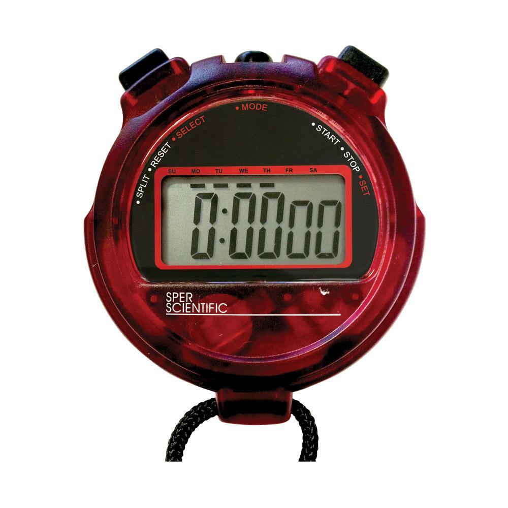 Transparent Red Stopwatch