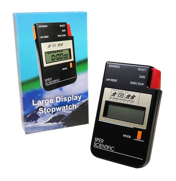 Stopwatch with Large LCD Display - Sper Scientific Direct