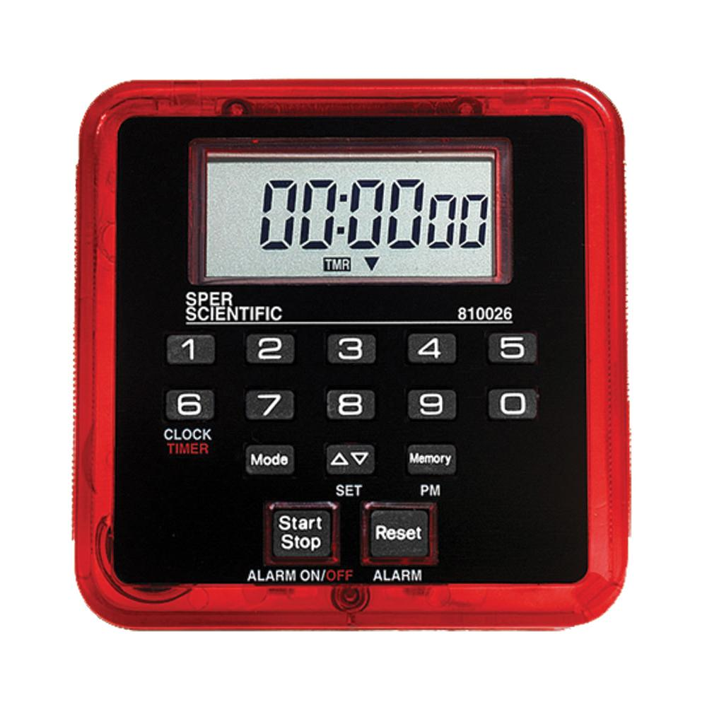 Count Up/Count Down Timer - 100 Hours - Sper Scientific Direct