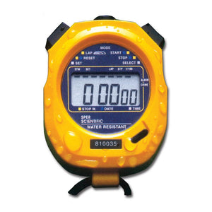 Water Resistant Stopwatch with Large LCD Display - Sper Scientific Direct