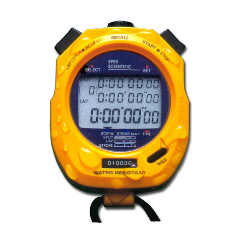 100 Memory Water Resistant Stopwatch - Sper Scientific Direct