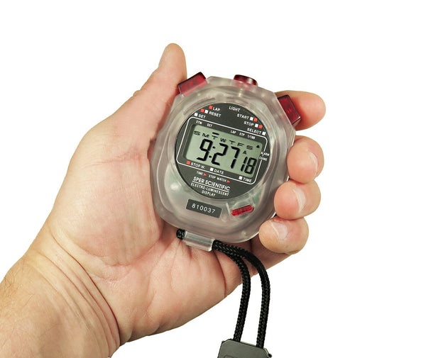 Digital Stopwatch with Electro-Luminescent Display - Sper Scientific Direct