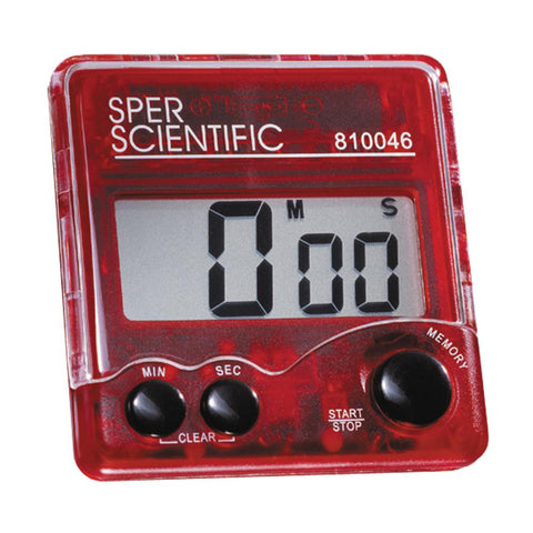 Large Display Pocket Timer - Sper Scientific Direct