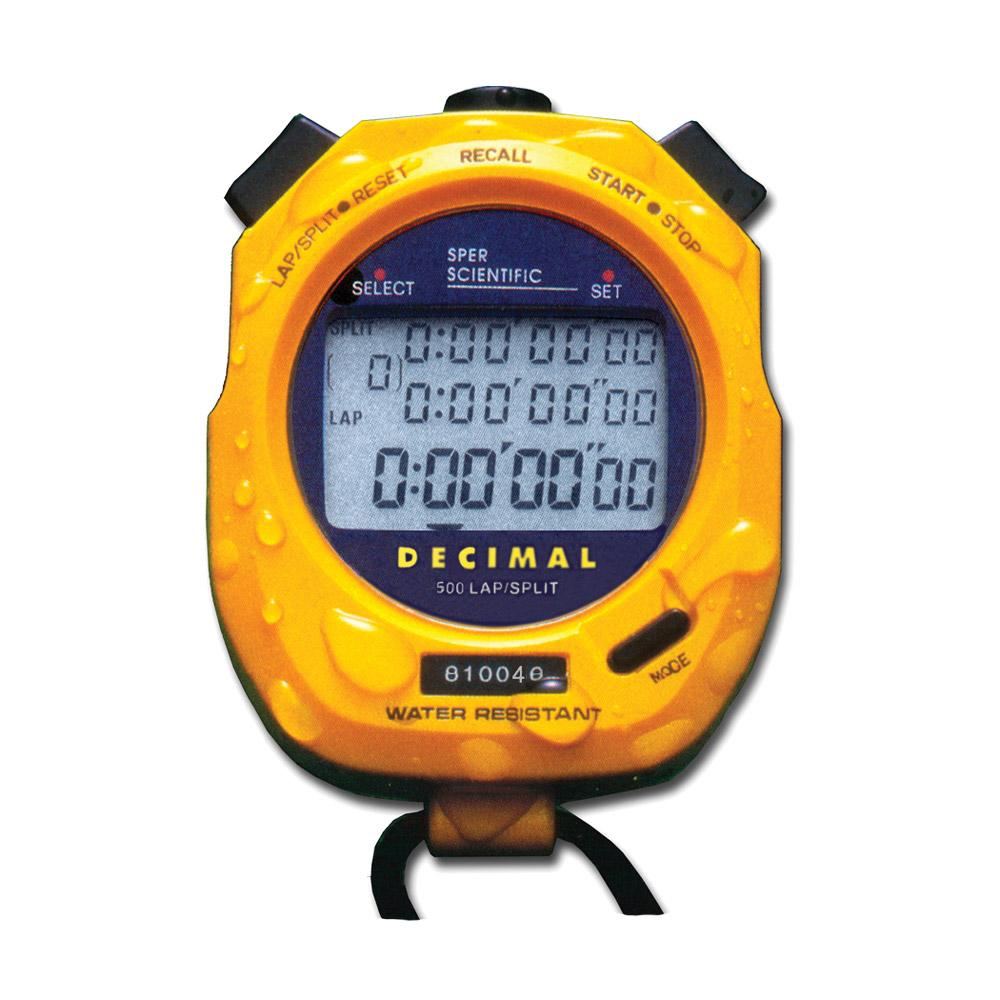 Water Resistant Stopwatch - Sper Scientific Direct