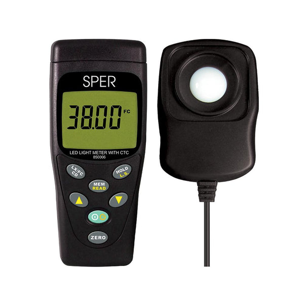 LED Light Meter with Color Temperature Compensation - Sper Scientific Direct