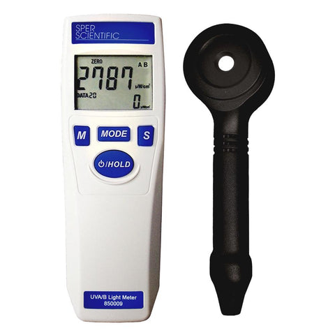 UV Light Meter UVA/UVB - Sper Scientific Direct
