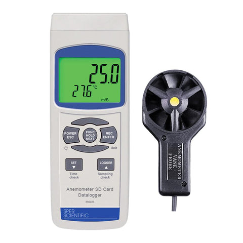 Anemometer SD Card Logger - Sper Scientific Direct