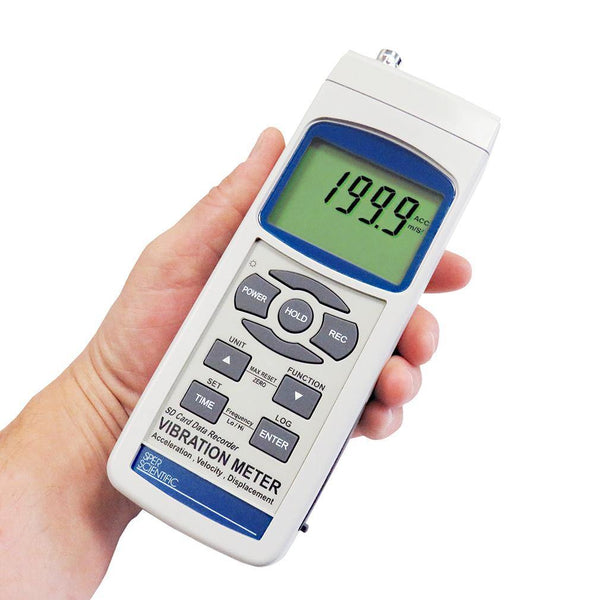 Vibration Meter with SD Card Logger / Dual Frequencies and Displacement