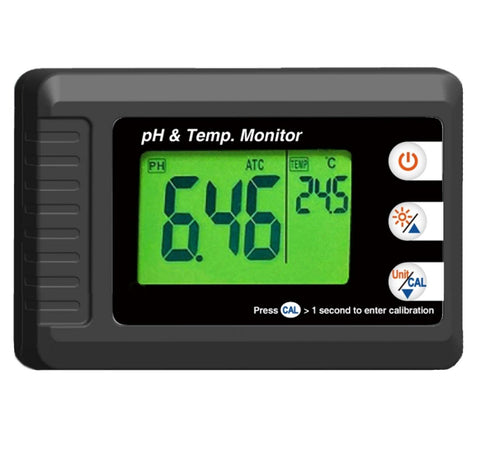 Large Display pH & Temperature Monitor