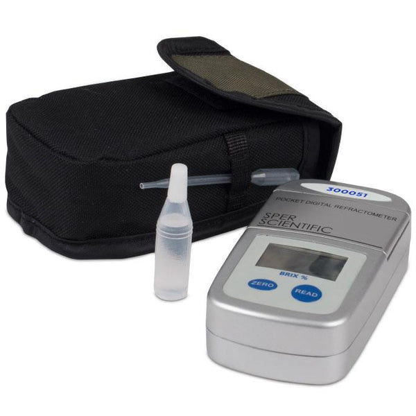 Pocket Digital Refractometer - Brix: 0 to 95% - Sper Scientific Direct