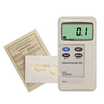 Recertification - Radiation Meter - NO Analog Meters - Sper Scientific Direct