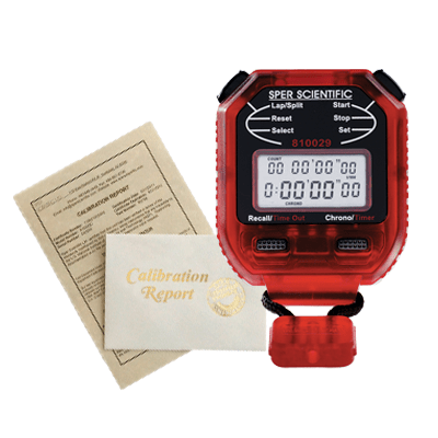 Recertification - Stopwatches - Sper Scientific Direct