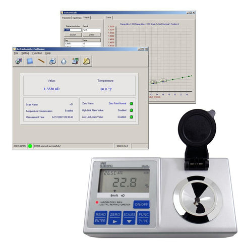 Lab Digital Refractometer - Programmable - Sper Scientific Direct