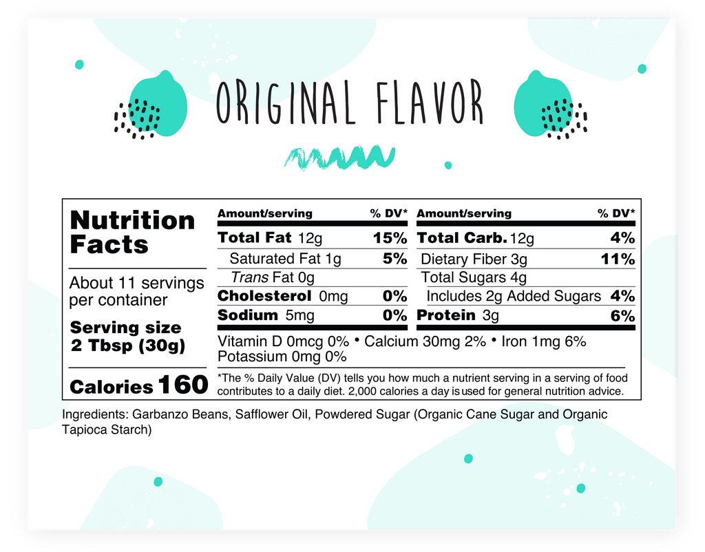 Nutritional facts - Original Flavor