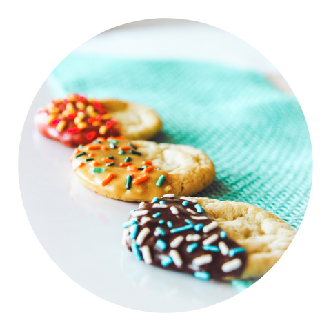 Cookies dipped in Banzo Butter and sprinkles!