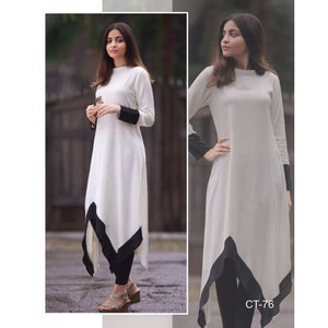 Beautiful Black And White Georgette Kurti